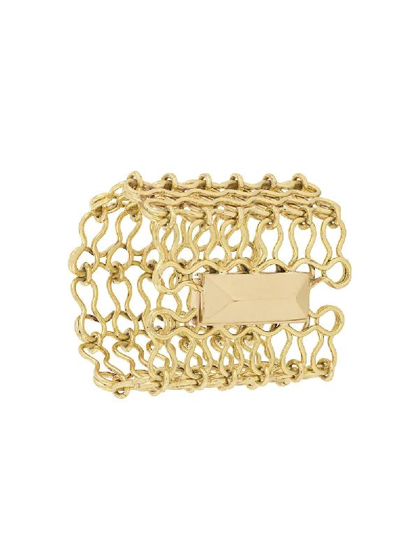 Ellery Chain-link Cuff Bracelet In Gold