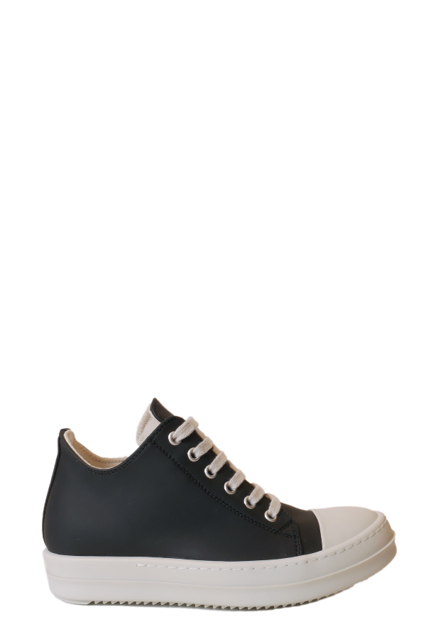 Drkshdw Lace Up Low Sneakers In Nero/bianco
