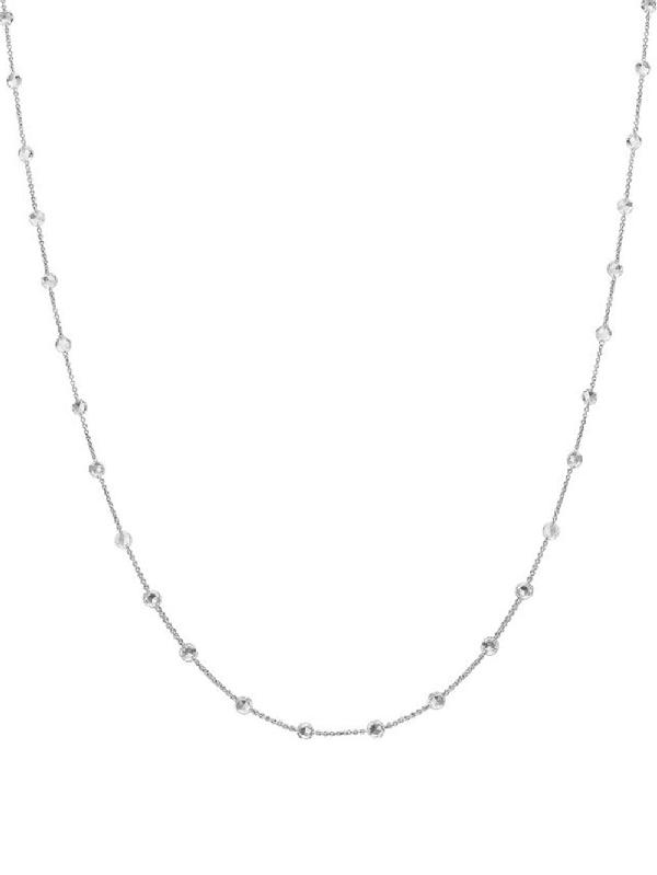 Nina Runsdorf Rose Cut Diamond Necklace In Metallic