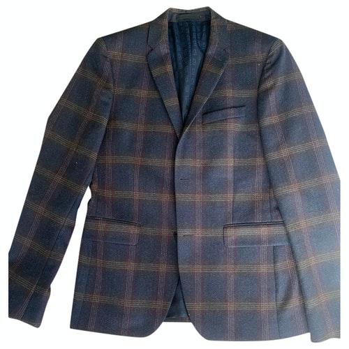 Azzaro Blue Wool Jacket