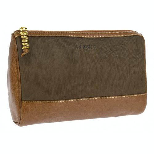 Loewe Brown Suede Clutch Bag