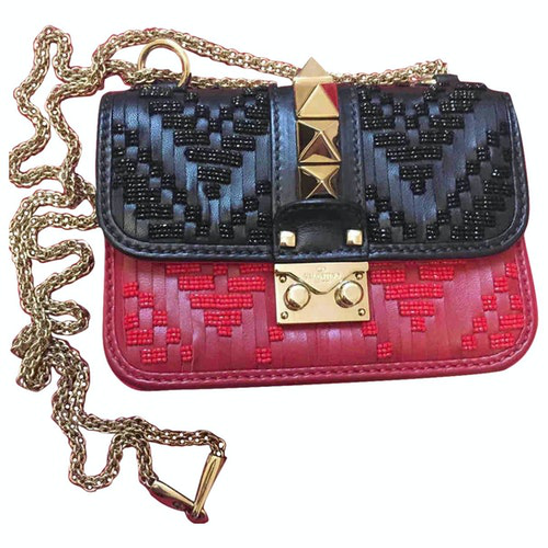Valentino Garavani Glam Lock Multicolour Leather Handbag