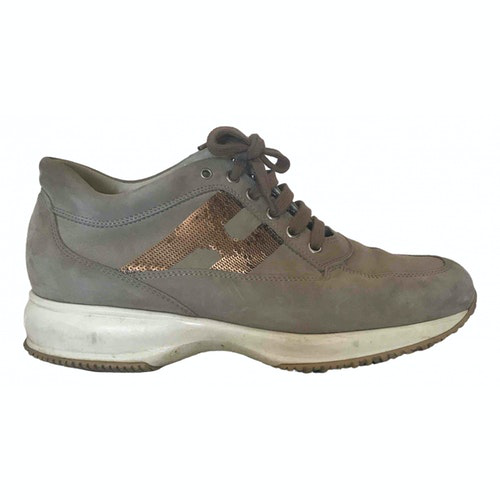 Hogan Beige Rubber Trainers