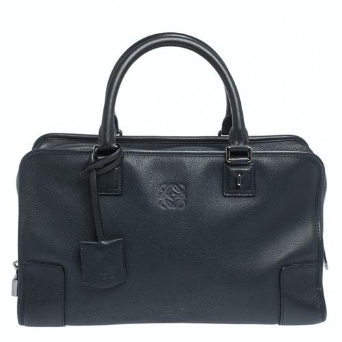 Loewe Amazona Blue Leather Handbag