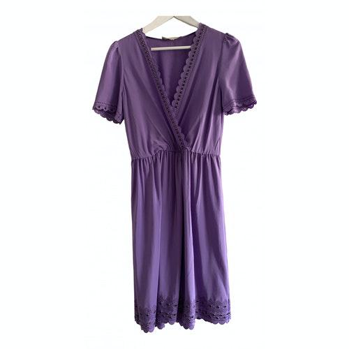 Vanessa Bruno Purple Silk Dress