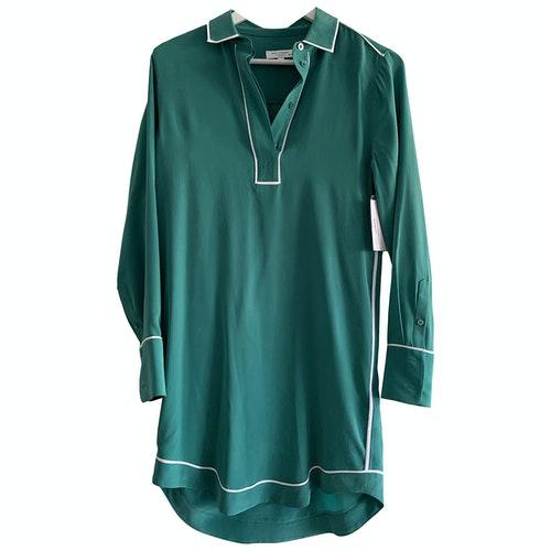 Equipment Green Silk Dress