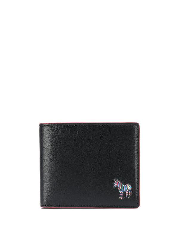 Ps By Paul Smith Zebra-embellished Bifold Wallet In Black