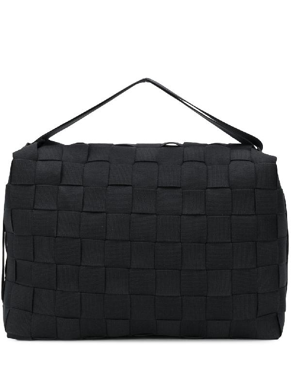 Issey Miyake Woven Detail Backpack In Black