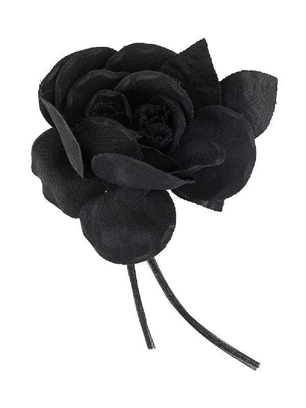 P.a.r.o.s.h. Flower Brooch In Black