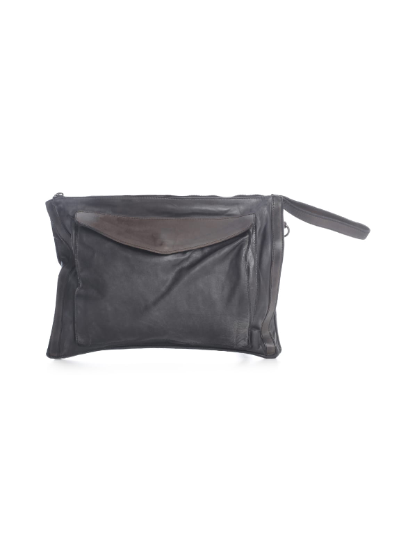 Numero 10 Horse Briefcase Bag W/patch In Fornt In Black