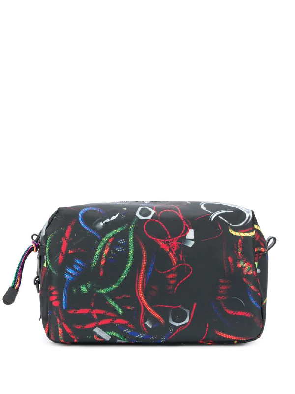 Ps By Paul Smith Abstract-print Wash Bag In Black