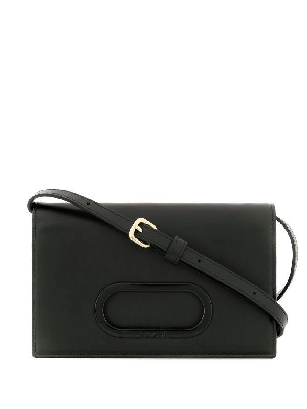 Sacai Mini-tasche Mit Klappe In Black