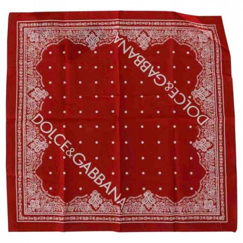 Dolce & Gabbana Red Cotton Scarf & Pocket Squares