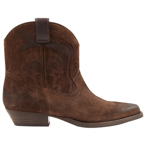 Ba&sh Spring Summer 2020 Brown Suede Ankle Boots