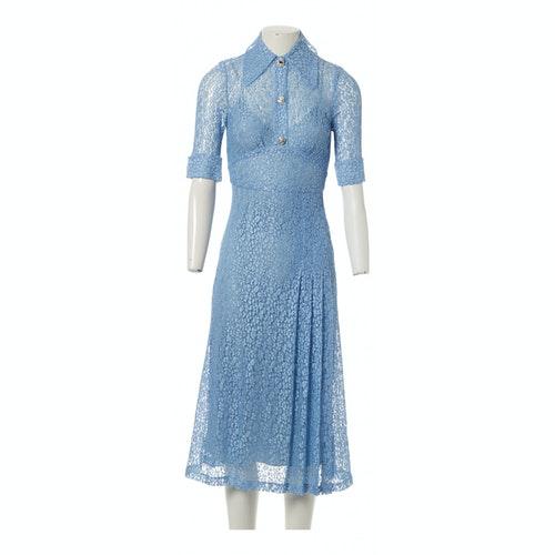 Alessandra Rich Blue Silk Dress
