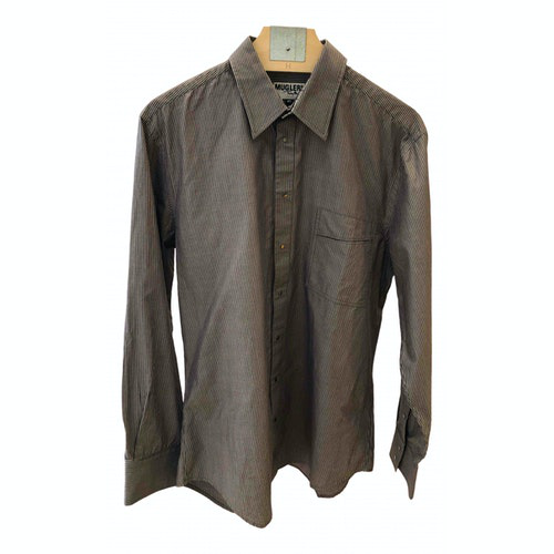 Mugler Brown Cotton Shirts
