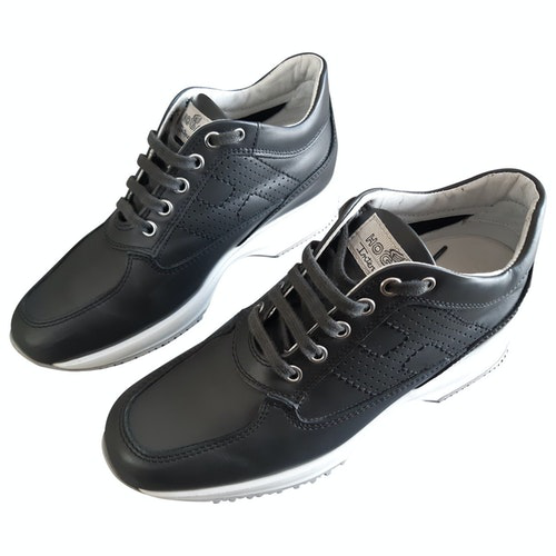 Hogan Anthracite Leather Trainers