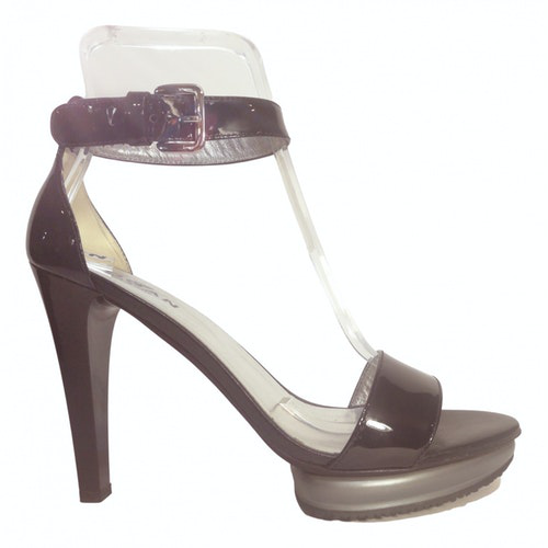 Hogan Black Patent Leather Heels
