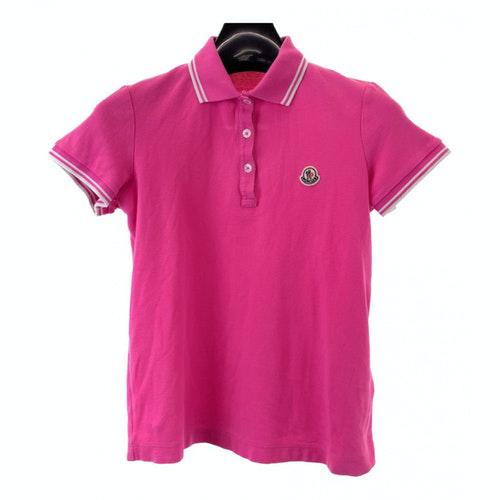 Moncler Pink Cotton  Top