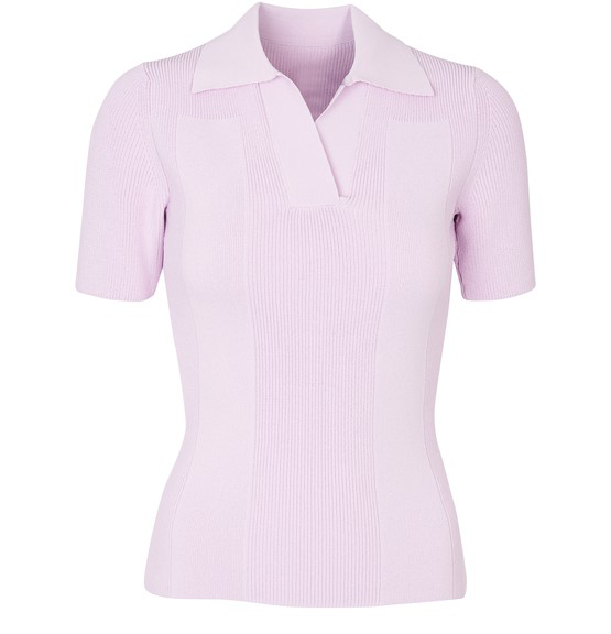 Jacquemus Open-back Tie-detailed Ribbed-knit Top In Pink