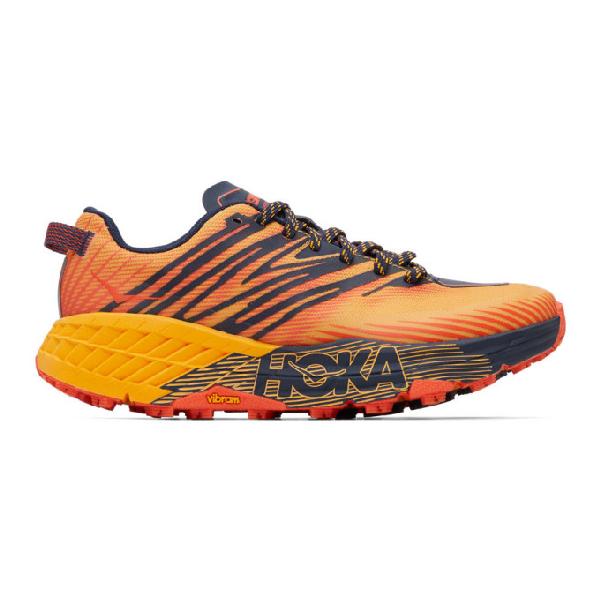 Hoka One One Speedgoat 4 Water-resistant Mesh Running Trainers In Orange