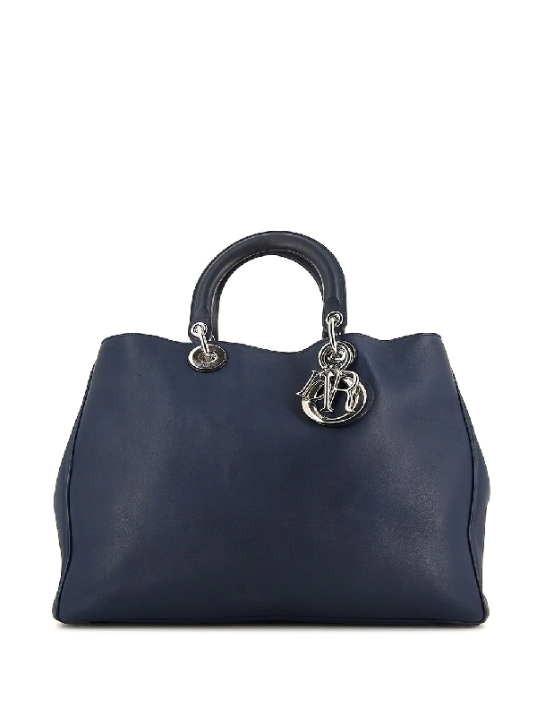 Dior Pre-owned Large Issimo Tote Bag In Blue