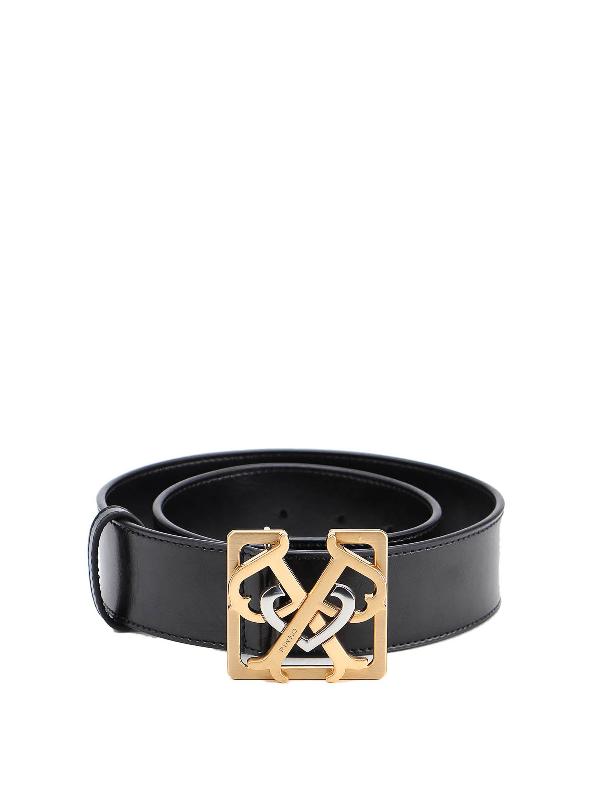 Pinko Sonaglio Leather Belt In Black