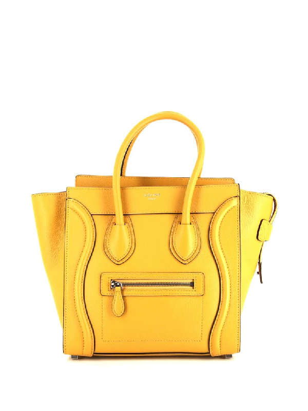 Celine Pre-owned Micro Luggage Tote Bag In Yellow
