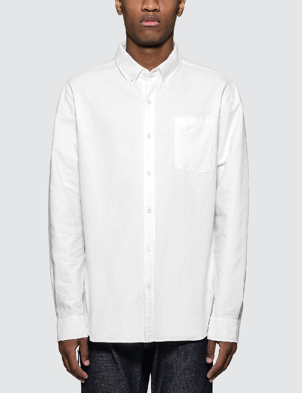 Vanquish Icon Oxford L/s Shirt In White