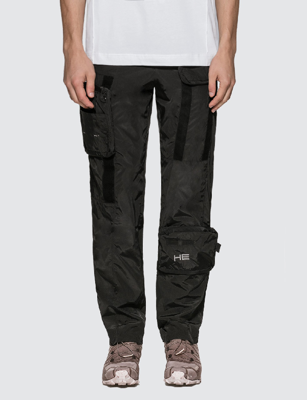 Heliot Emil Magnets Cargo Pants In Black
