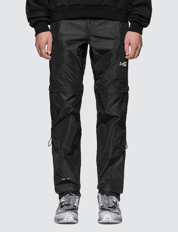 Heliot Emil Black Convertible Zip-off Trousers