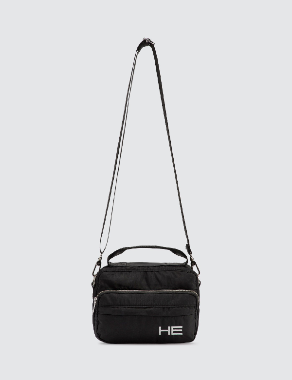 Heliot Emil Logo Messenger Bag In Black