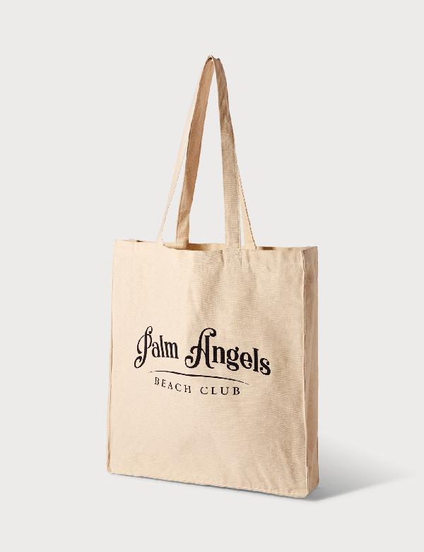 Palm Angels Beach Club Shopper In Beige