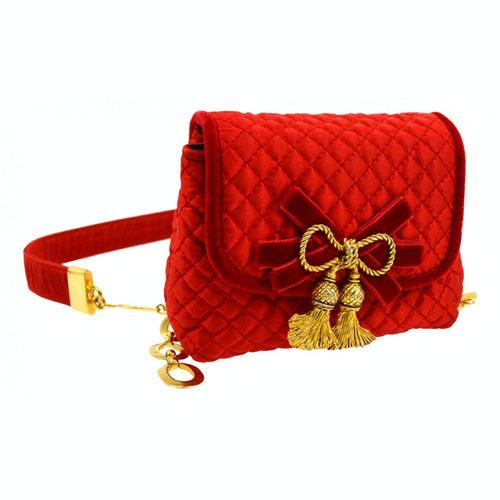 Bottega Veneta Red Cloth Clutch Bag