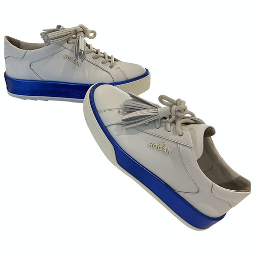 Hogan White Patent Leather Trainers