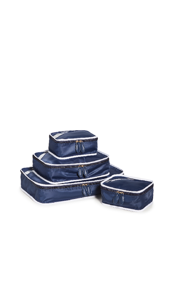 Paravel Packing Cube Quad In Scuba Navy
