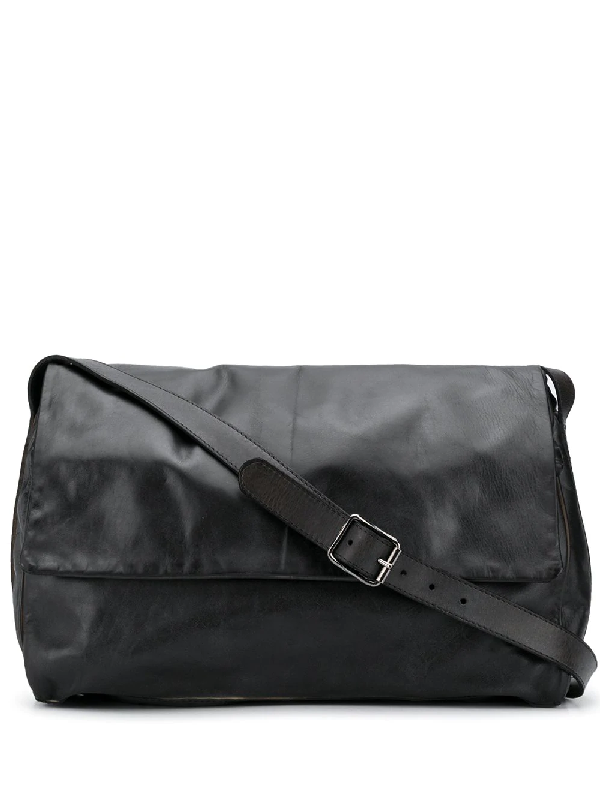 Numero 10 Foldover Shoulder Bag In Black
