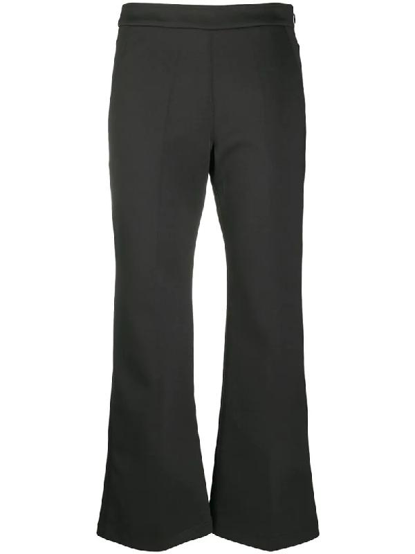 Jil Sander Cropped Flared Trousers In Black