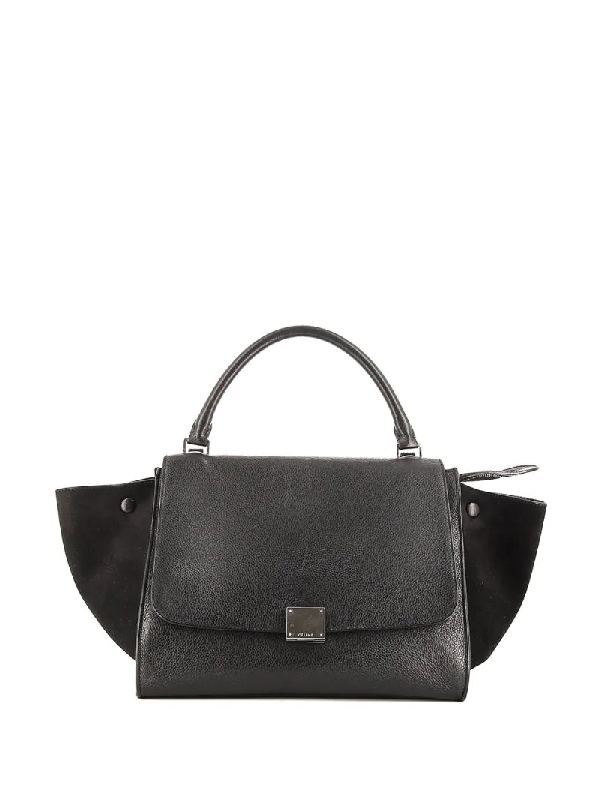 Celine Pre-owned Medium Trapeze Tote Bag In Black