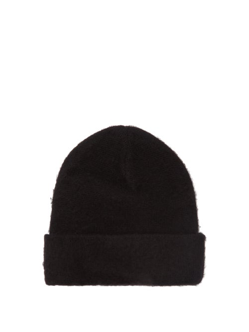 Acne Studios Pilled Wool Cashmere Blend Beanie In Black