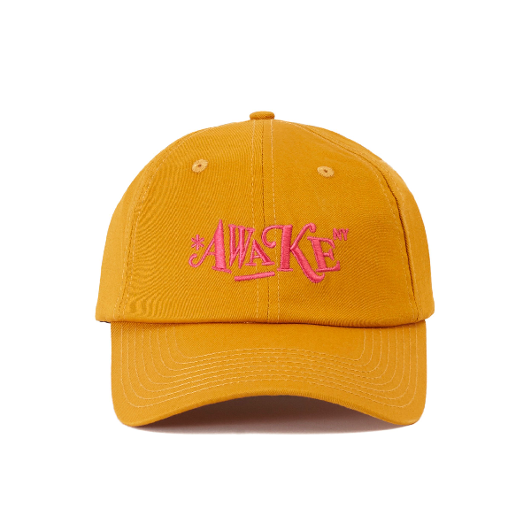 Awake Distorted Logo Dad Cap Mustard