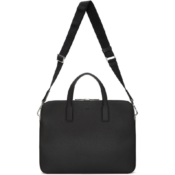 Hugo Boss Boss Black Double Document Briefcase In 001 Black