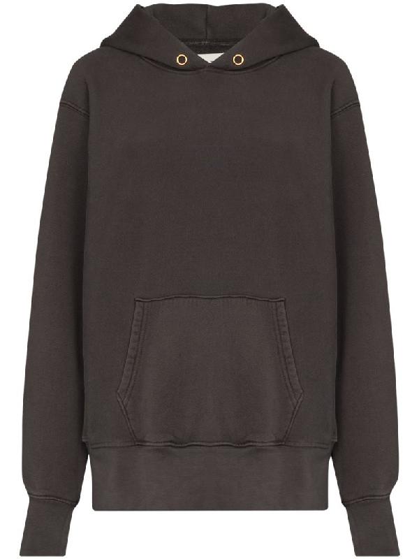Les Tien Pouch-pocket Long-sleeve Hoodie In Grey