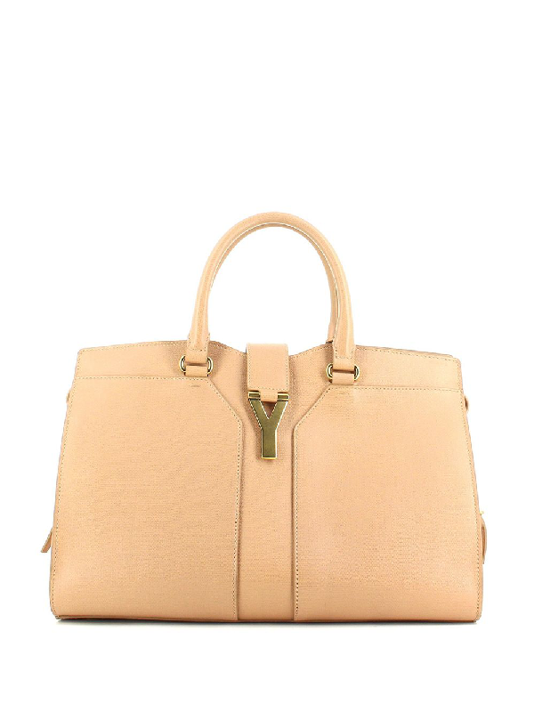 Saint Laurent Chyc Tote In Neutrals