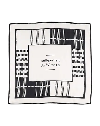 Self-portrait Square Scarf In Light Pink