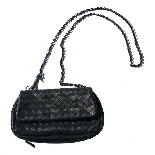 Bottega Veneta Olimpia Black Leather Clutch Bag