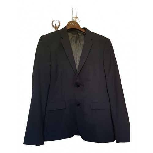 Azzaro Blue Wool Suits