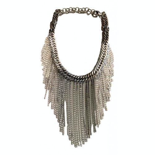 Dannijo Silver Metal Necklace