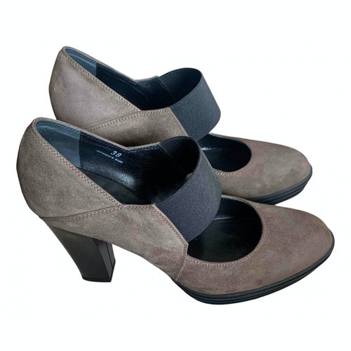 Hogan Brown Leather Heels