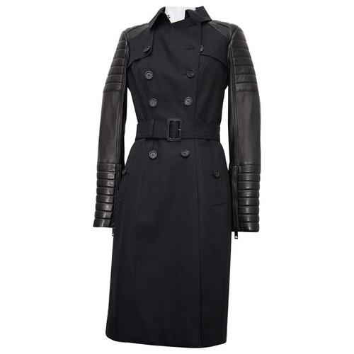 Belstaff Black Leather Trench Coat